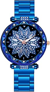 Stainless Steel Women's Watch – Diamond Flower Dial - Great Mother's Day Gift(Multicolor)