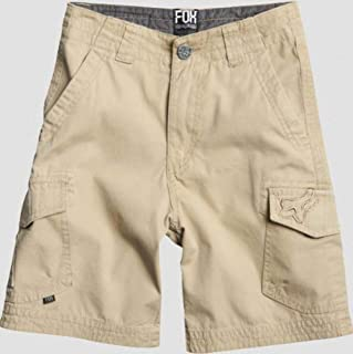 Fox Racing Kids Slambozo Solid Cargo Shorts、ダークカーキ、4