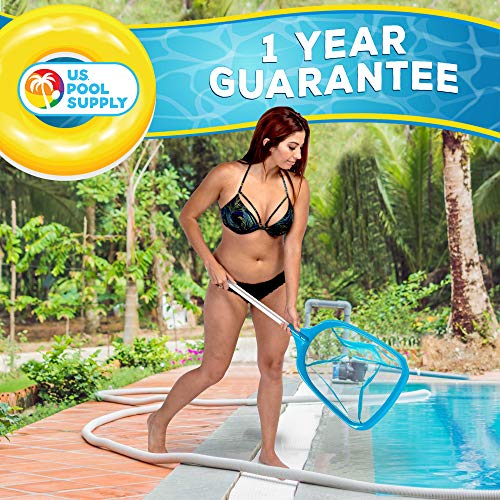 U.S. Pool Supply Professional Spa, Hot Tub, Pool Hand Leaf Skimmer Net with 12