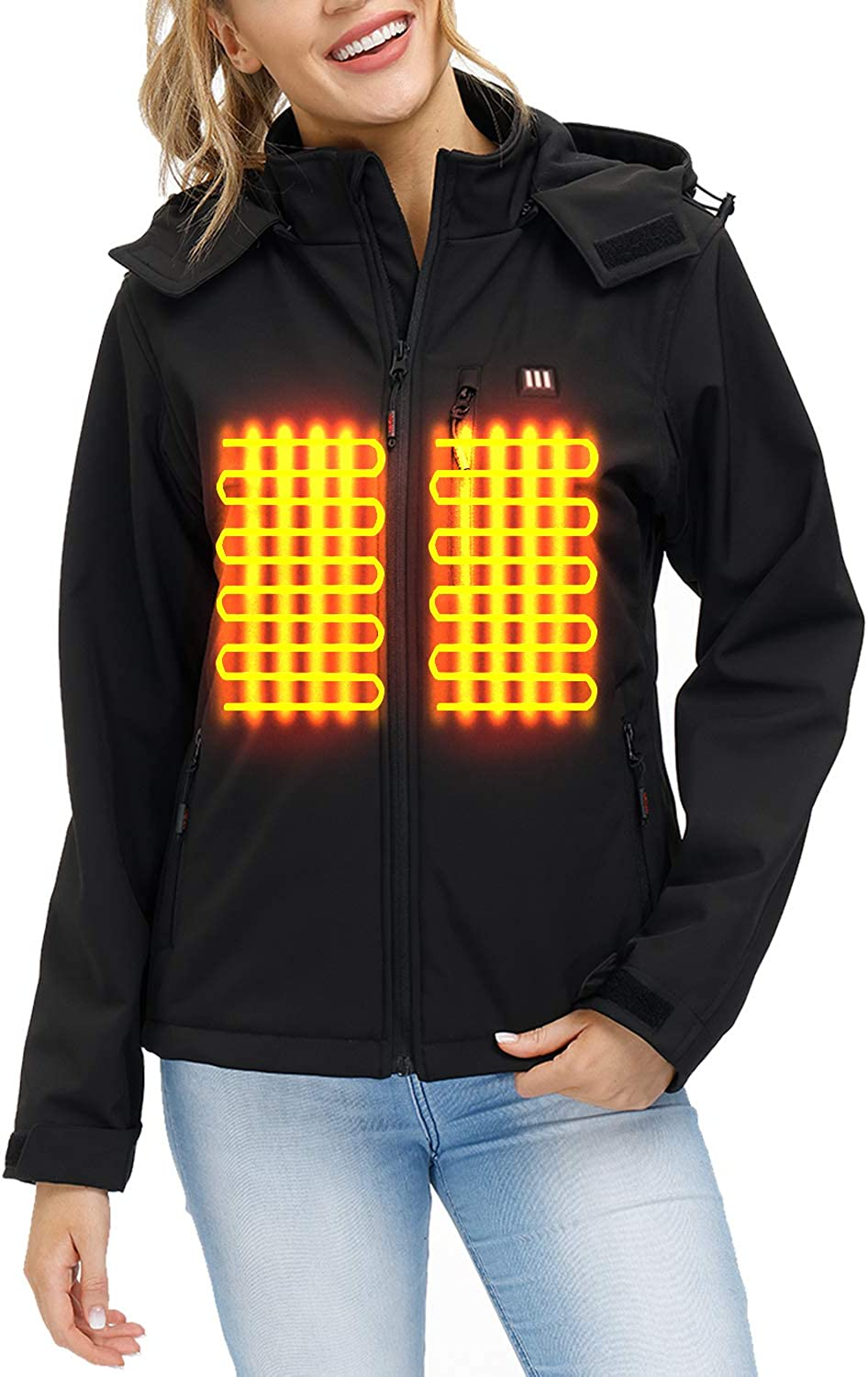 Heated Jacket OFFicial shop with Battery and High quality new Hood Pack Detachable