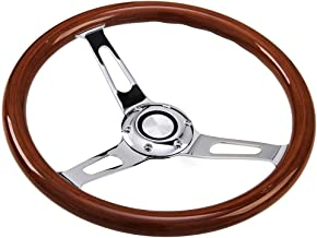 Hodenn350mm 14inch Wood Steering Wheel with Horn Kit Fit forChevy Classic