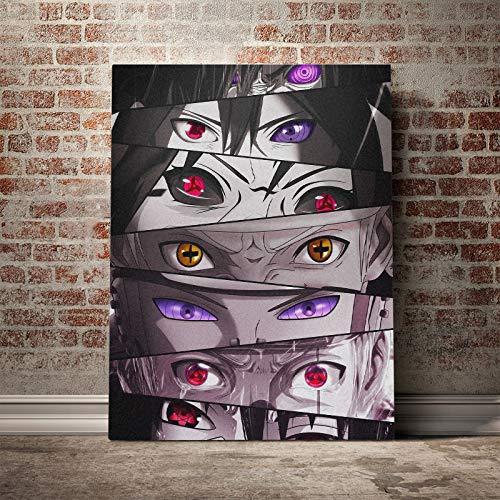 Anime dibujos animados Manga Naruto Ninja Eyes Uzumaki Mangekyo Sharingan lienzo pintura pared arte cartel impresiones niño ventiladores dormitorio sala de estar decoración del hogar Mural