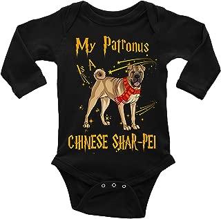 My Patronus is a Chinese Shar-pei Baby Long-Sleeve Onesies Bodysuit