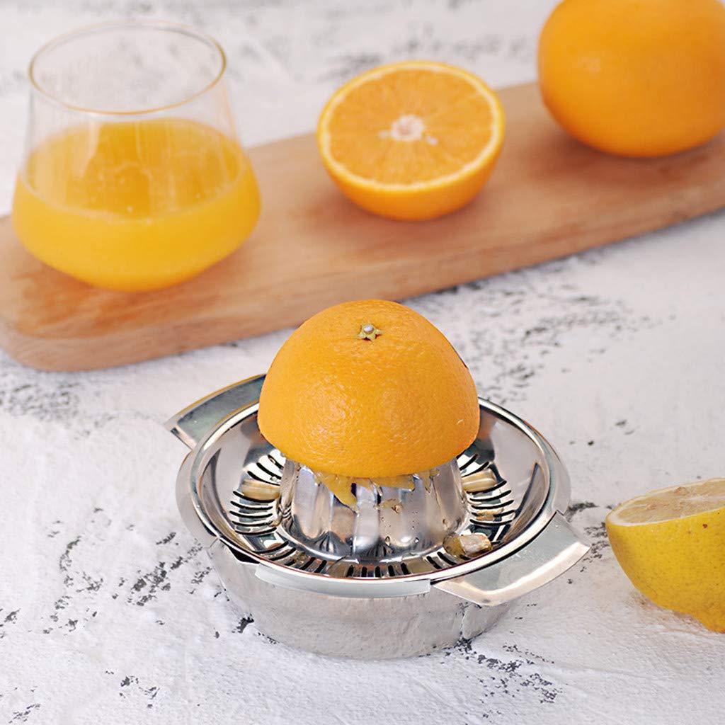 Webla - Exprimidor de limones de acero inoxidable con recipiente ...