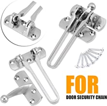 MUMA Stainless Steel Door Chain Guard Safety Door Chain Lock With Anti-Theft Chain And Spring Lock For Home Hotel Security Door Lock Color : Silver