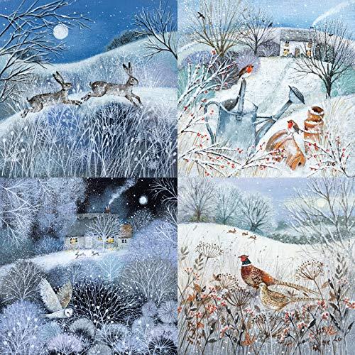 Museums & Galleries XETC221 Deep Midwinter Lot de 20 cartes de Noël