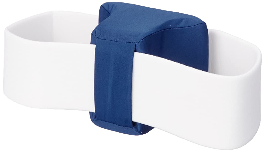 Rolyan Polyester Covered Knee Separator, Soft Block with Strap for Separating Knees & Holding Hips in Abduction, Pillow for Sciatica Relief, Spine Alignment, & Nerve Pain, Contoured Support for Legs