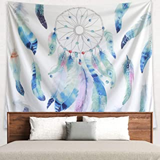 Grace store Dreamcatcher Tapestry Boho Wall Tapestry Home Decor Hippie Tapestry for Bedroom Wall Art Decor, Beach Blanket, W59 x L51