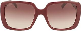 Gucci lunettes de soleil GG0632S 003 rouge Bordeaux taille 56 mm de Femmes