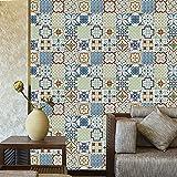 Catchart Retro Azulejos de cerámica Pegatinas de Pared baño Cocina Azulejos Pegatinas Pegamento Decorativo Impermeable PVC Escalera Muebles (4,45x120cm)