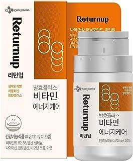 [CJ Cheiljedang] Returnup Fermentation Plus Vitamin Energy Care 120 Count 8 Vitamins for Energy Antioxidation