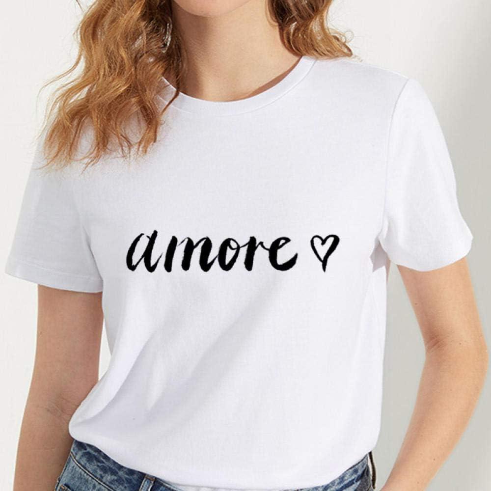 A-HXTM Camisetas Gráficos De Mujeres Carta De Arte Gráfico ...