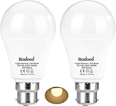 Sensor Lights Bulb Dusk to Dawn LED Light Bulbs Smart Lighting Lamp 9W B22 Base Automatic On/Off, Indoor/Outdoor Yard Porc...