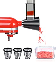 BANKKY Slicer Shredder Attachment for KitchenAid Stand - Vegetable Chopper Set for KitchenAid Mixer, Cheese Grater Accesso...