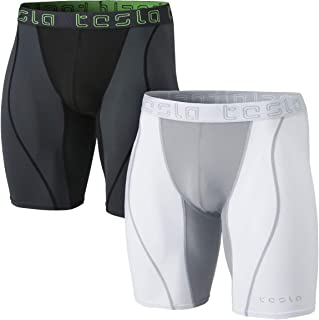 TSLA Men's (Pack of 1, 2) Compression Shorts Baselayer Cool Dry Sports Tights