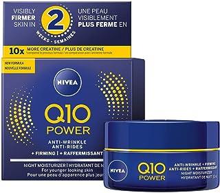 NIVEA Q10 POWER Anti-wrinkle + Firming Night Face Moisturizer 50 mL, Deep Moisturizing Night Cream, Anti-Aging Cream Fight...