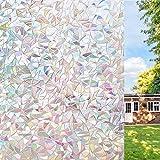 UMI.Película para Ventanas - Película de Vidrio de Aislamiento Autoadhesiva Electrostática, Anti-UV, Sin Cola, para Decoración de Dormitorios, Cocina y Otros Cristales de Ventanas (44,5 x 300cm)