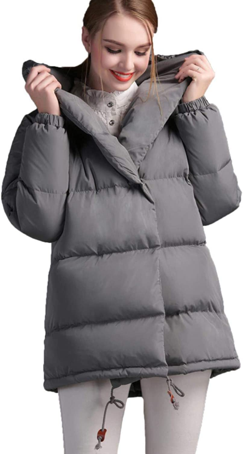 CHANGYUGE Women Winter Double Breasted Cotton Coat
