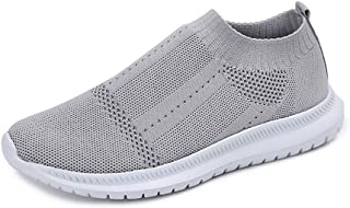 OUYAWEI Women Breathable Mesh Light Sneakers Running Travel Casual Slip On Sports Shoes Outdoors Sports
