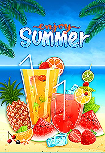 Morigins zomer leuk 12,5 x 18 inch decoratieve fruit sap strand partij tuin vlag Large-28