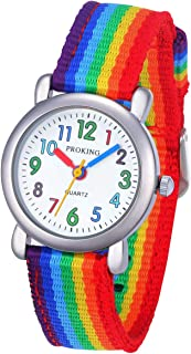 Cute Toddler Kids Analog Watch Comfortable Waterproof Watch for Ages 2-10 Little Girls Boys