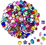 JPSOR 900pcs Gems Acrylic Flatback Rhinestones Gemstone Embellishments, 9 Shapes, 6-13mm...