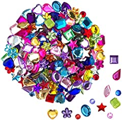 Package includes: 100 10mm heart-shaped rhinestones, 100 6*12mm horse eye-shaped rhinestones, 100 10mm pentagonal rhinestones, 100 6mm round rhinestones, 100 8*13mm water drop-shaped rhinestones, and 100 10mm flower-shaped rhinestones. 100 10*8mm ova...