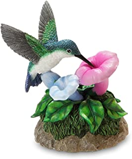 Image of Flowers and Hummingbird Musical Figurine