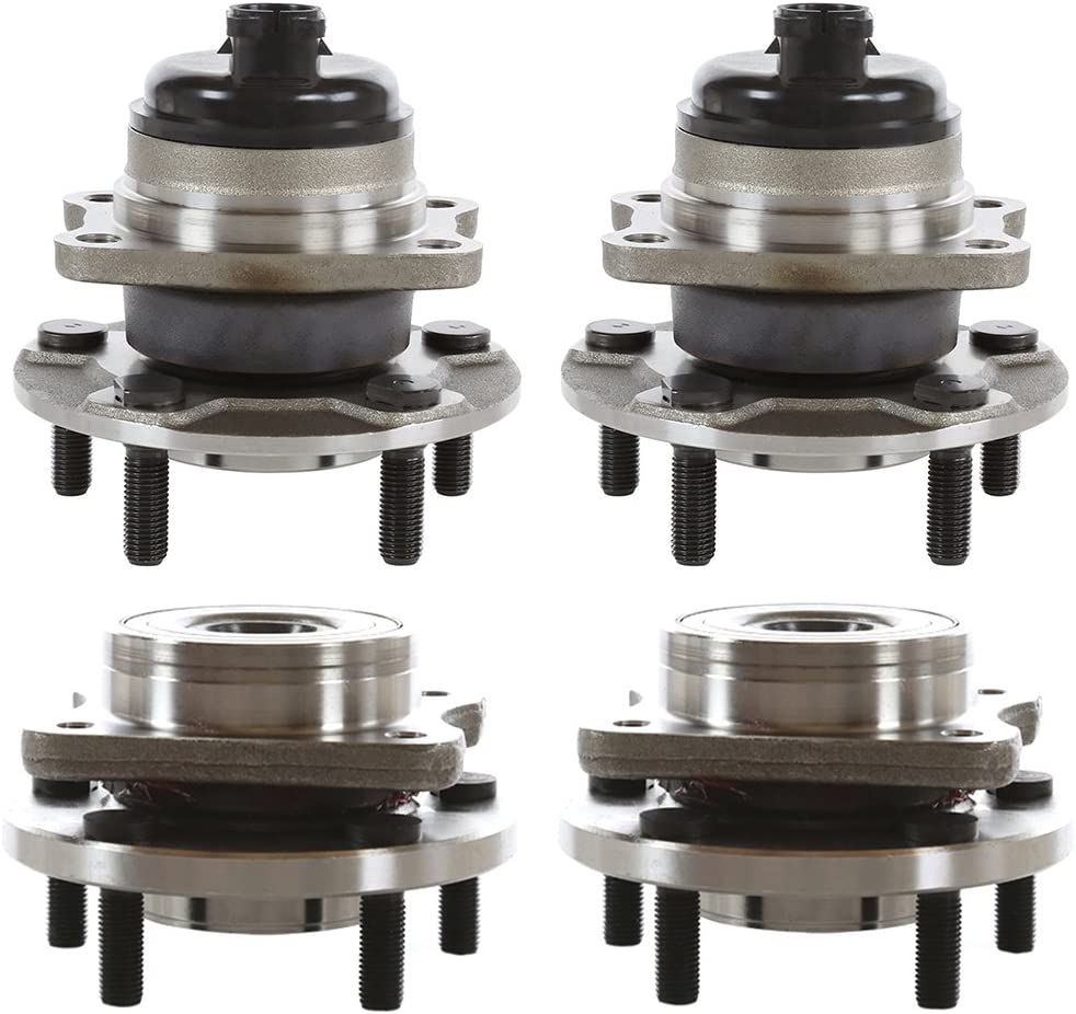AutoShack HB125-171 気質アップ Set 捧呈 of 4 Wheel Rear Hub Front Bearing Wh and