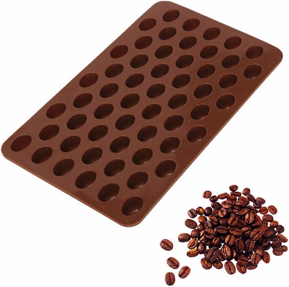 55 Cavity Chocolate Mould Translated Silicone Chocola Mini Beans Fashion DIY Coffee