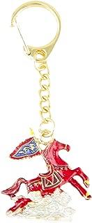 Feng Shui Bejeweled Flying Wind Horse Keychain Amulet