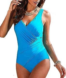 Upopby Women's Tummy Control Monokini One Piece Swimsuit Plus Size Swimwear