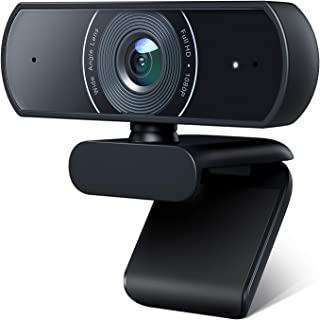 Victure 1080P Webcam with Dual Microphones, Full HD Video Camera for Computers PC Laptop Desktop, USB Plug and Play, Confe...