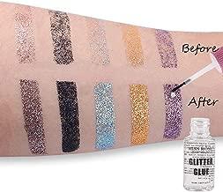 Angmile 25ML Waterproof Glitter Powder Glue For Eye, Lips, Face, Body Makeup Powder Fixing Gel Eyeshdow Primer