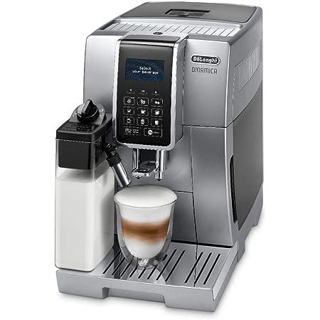 De'Longhi Dinamica, Machine expresso avec broyeur, technologie exclusive boissons lactées, ECAM350.75.S, Argent