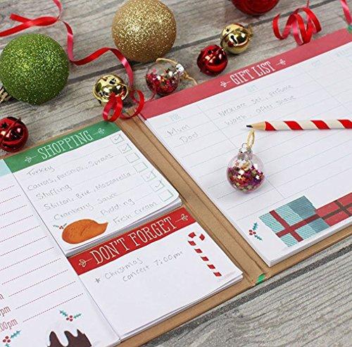 Agenda natalizia con copertina rigida e biglietti adesivi per appunti