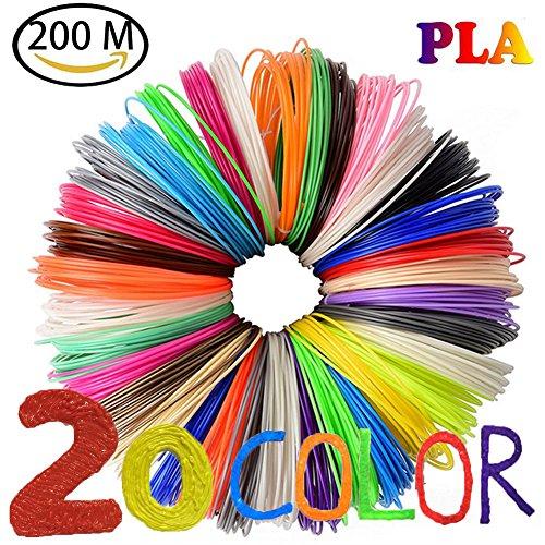 NuoYo PLA Filament 3D Stift PLA Filament 1.75mm 3D Pen 20 Farben 3D Print Filament 3D Printer Material 1.75mm für 3D Drucker 10m/1pcs