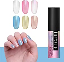 LILYCUTE Rainbow pearl Gel Polish Glitter Nail Art UV Gel Varnish Transparent Soak Off Nail Art Gel 5ml 6 Colors