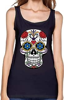 Sugar Skull Womens Tank Tops Undershirts Athletic Summer Sleeveless T-Shirts for Women