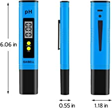 ISAIBELL Digital Meter, 0.01 High Accuracy Quality 0-14 Measurement Range for Household Drinking, Pool and Aquarium Water PH Tester Design with ATC Blue1