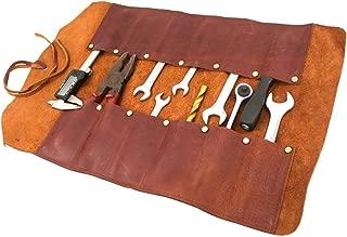 Replicartz Handmade Rustic Hunter Leather Big Tool Roll Organizers
