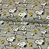 Stoffe Werning Baumwolljersey Lizenzstoff Peanuts Snoopy