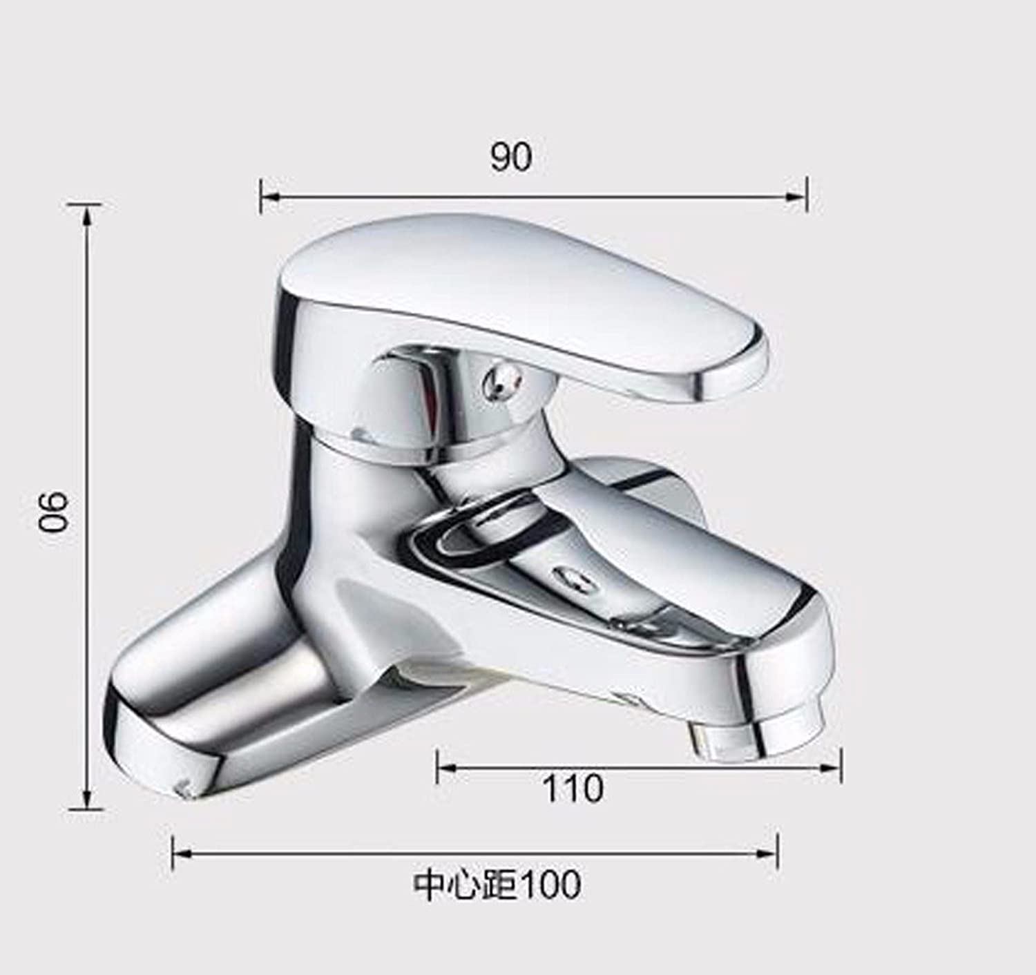 LHbox Basin Mixer Tap Bathroom Sink Faucet The brass body 2 holes basin mixer to turn the cold water faucet single handle three hole basin basin mixer,