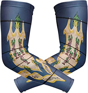 poeticcity Wood 护臂_OK Flag Wood Style 1 Pair Arm Sports Sleeves Cooling Warmer UV Protection