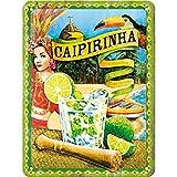 Nostalgic-Art Cartel de Chapa Retro Caipirinha – Idea de Regalo como Accesorio de Bar, metálico, Diseño Vintage para decoración Pared, 15 x 20 cm