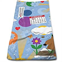 Groundhog Day Christmas Kitchen Towels - Dish Cloth - Machine Washable Cotton Kitchen Dishcloths,Dish Towel & Tea Towels for Drying,Cleaning,Cooking,Baking,Mothers Day Birthday