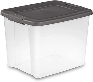 Sterilite 50-Quart Storage Clear Stackable Latching ShelfTote (12 Pack) 19373V06
