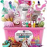 Original Stationery Kit Fluffy Slime para niñas ¡Todo en una Caja para Hacer Slime Fluffy de Helado, Esponjoso, de Mantequilla, Nube y Espuma! Regalos para niñas y niños