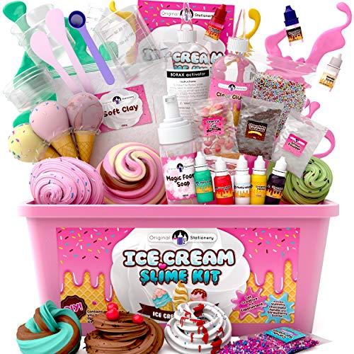 Original Stationery Fluffy Slime Kit For Girls Everything In One Box to...