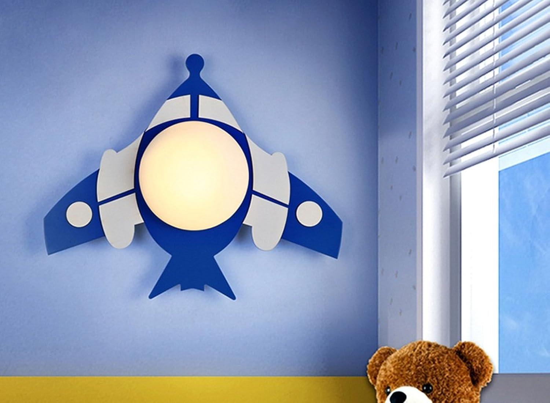 LED-Wandleuchte Kinderzimmerlampe Augenschutz Lampen kreative Karikatur Nacht Kind Schlafzimmer Flugzeug Balkon Aisle